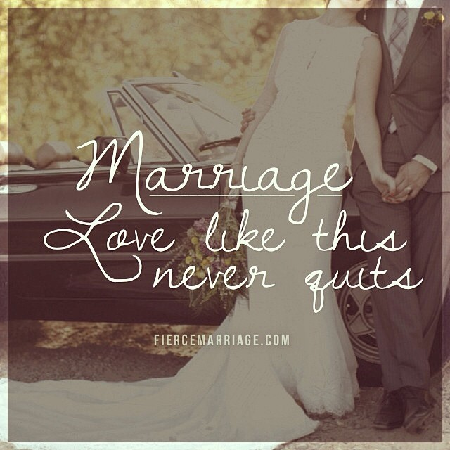 """Marriage: love like this never quits."" -Selena Frederick"
