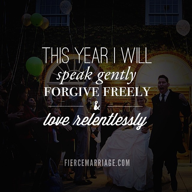 """This year I will speak gently"