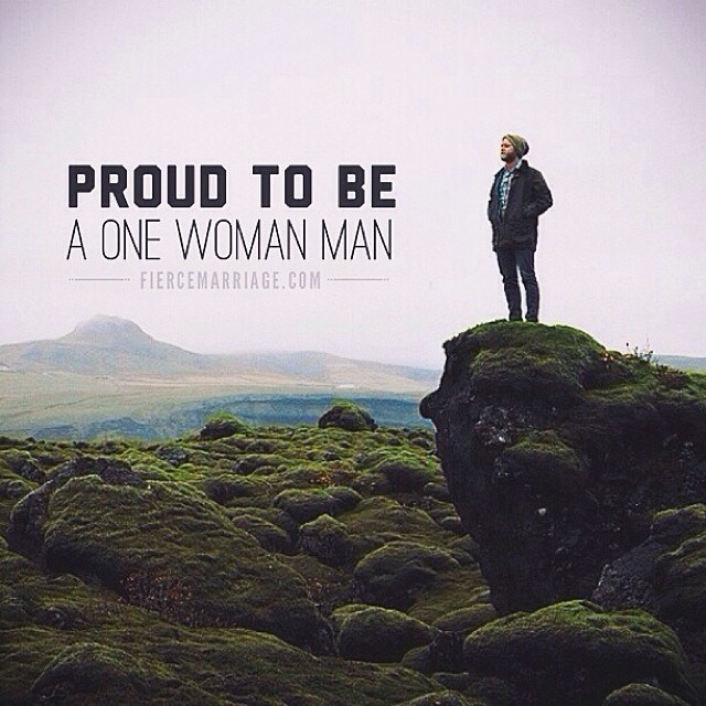 """Proud to be a one woman man."" -Ryan Frederick"