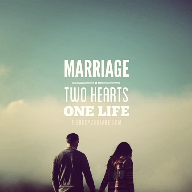 """Marriage: two hearts"