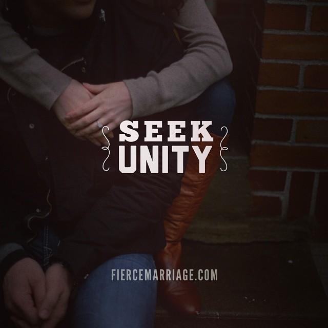 """Seek unity"" -Ryan Frederick"