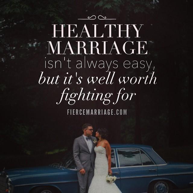 """Healthy marriage isn't always easy"