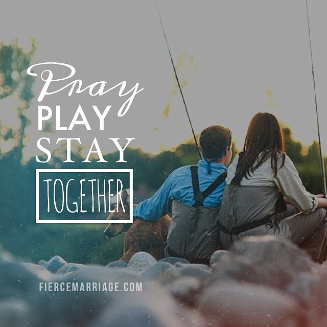 Pray, play, stay together -Ryan Frederick