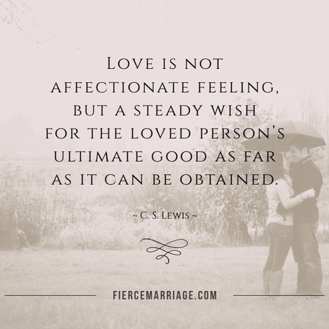 """Love is not affectionate feeling"