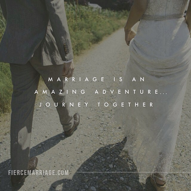 """Marriage is an amazing adventure...journey together."" -Ryan Frederick"