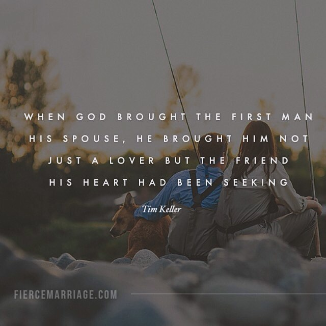 """When God brought the first man his spouse"