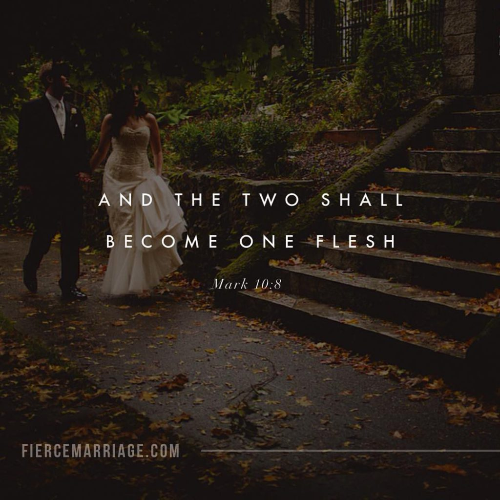 """And the two shall become one flesh. Mark 10:8"" -Jesus"