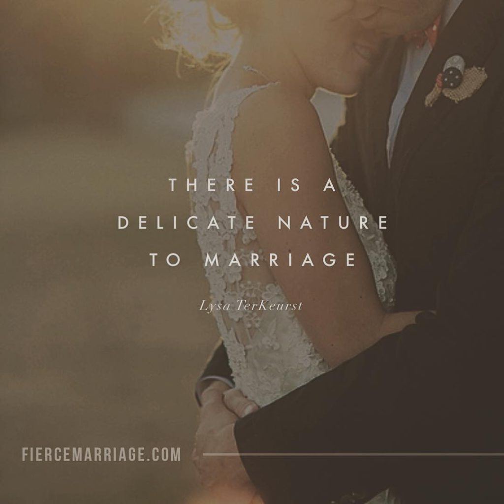 There is a delicate nature to marriage. -Lysa TerKeurst