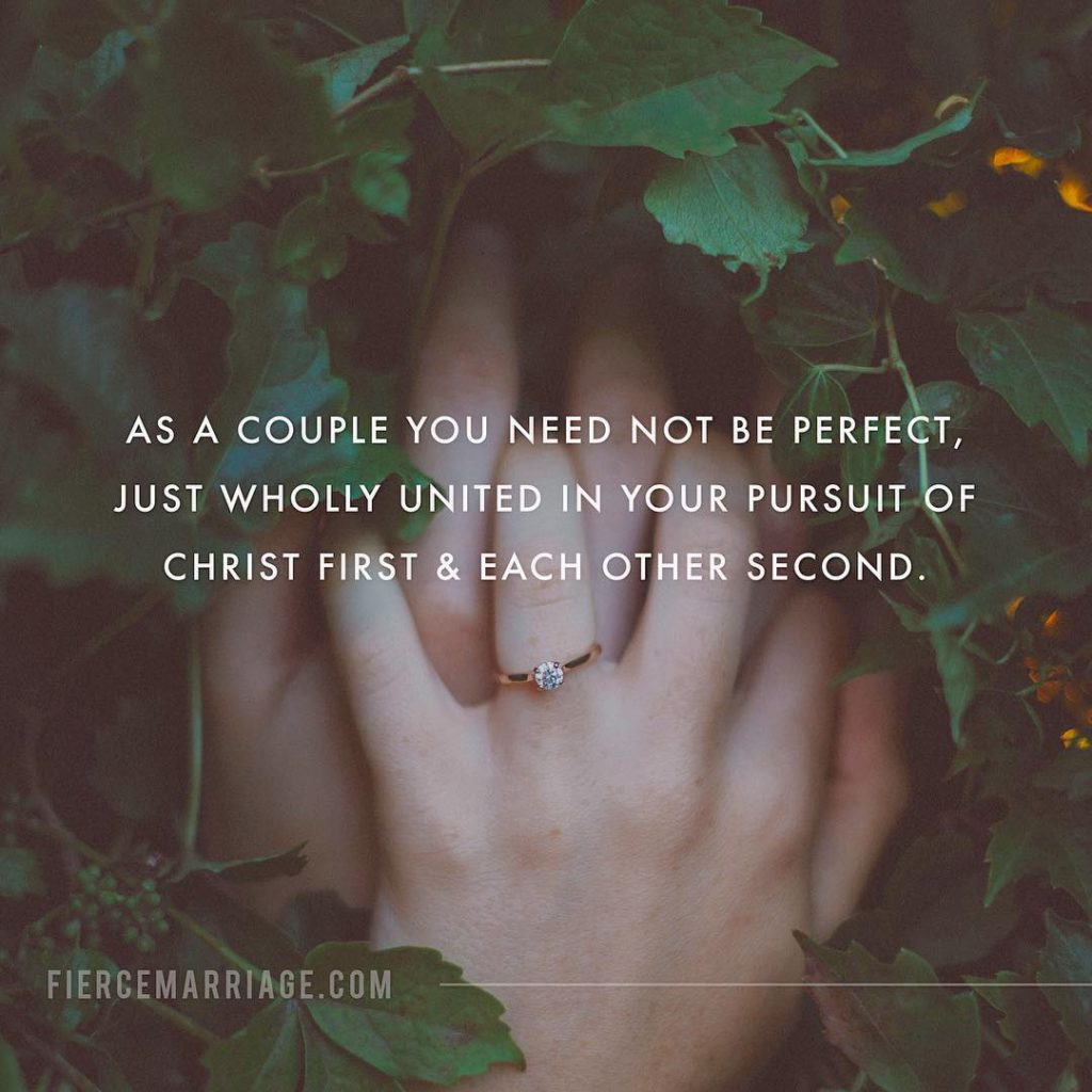 """As a couple you need not be perfect"