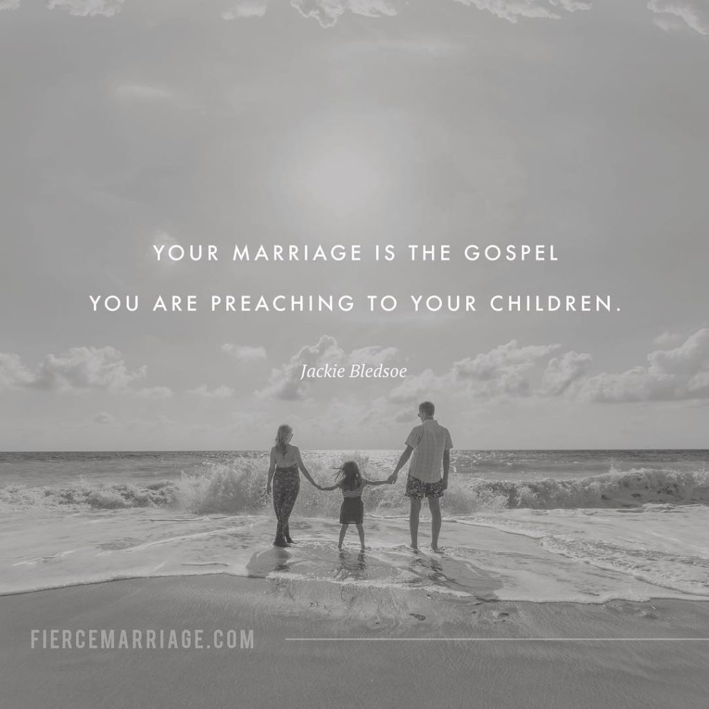 """Your marriage is the Gospel you are preaching to your children."" -Matthew L. Jacobson"