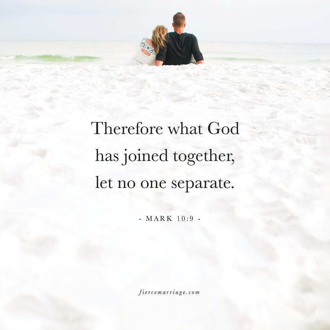 """Therefore what God has joined together"