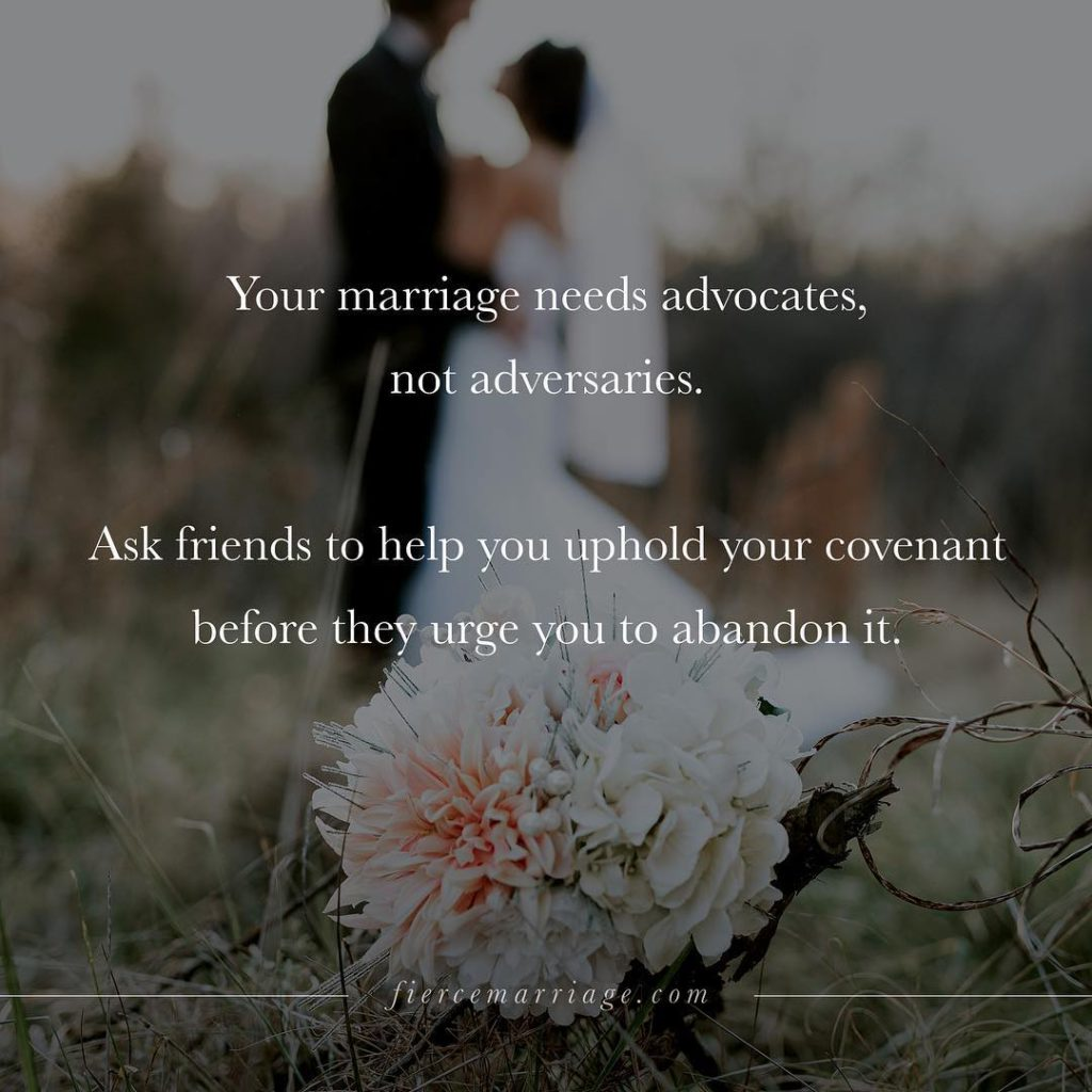 """Your marriage needs advocates"